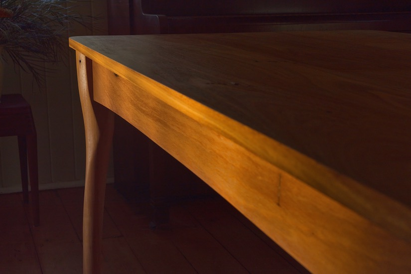 Dining table made by Anew from recycled Australian hardwood