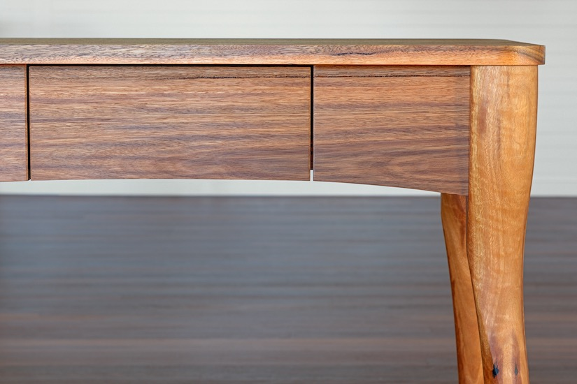 Hall table made by Anew from recycled Australian hardwood